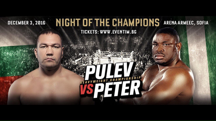 Kubrat Pulev - Kubrat Pulev, the reigning European heavyweight champion who was recently in the running to be the next challenger for IBF boss Anthony Joshua, has another fight set instead. According to Pulev's Twitter page, he will face none other than former WBC heavyweight champ Sam Peter in Sofia, Bulgaria on December 3rd.