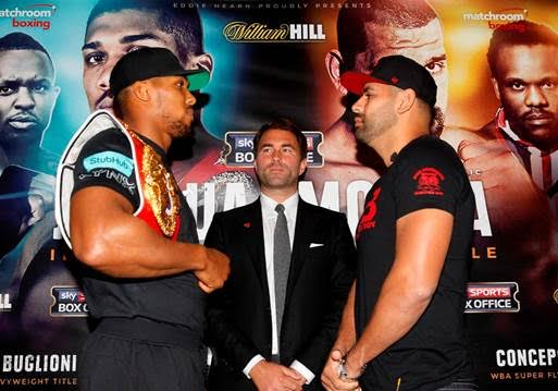 Eric Molina - With news coming that former heavyweight king Wladimir Klitschko will be in attendance in Manchester for Anthony Joshua's IBF title defence against Eric Molina, some people are wondering if Joshua will be at all affected by the sight of the man he is set up to meet in a huge fight next March/April. Will Joshua try too hard to impress Klitschko? Will he take his eyes, and his concentration, off the man in front of him?