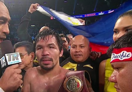 "Michael Koncz says Manny Pacquiao's next fight will ""100 percent be in the UAE"""