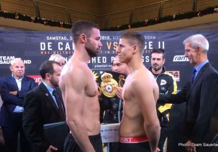 Zeuge vs. De Carolis II: Official weights from Potsdam