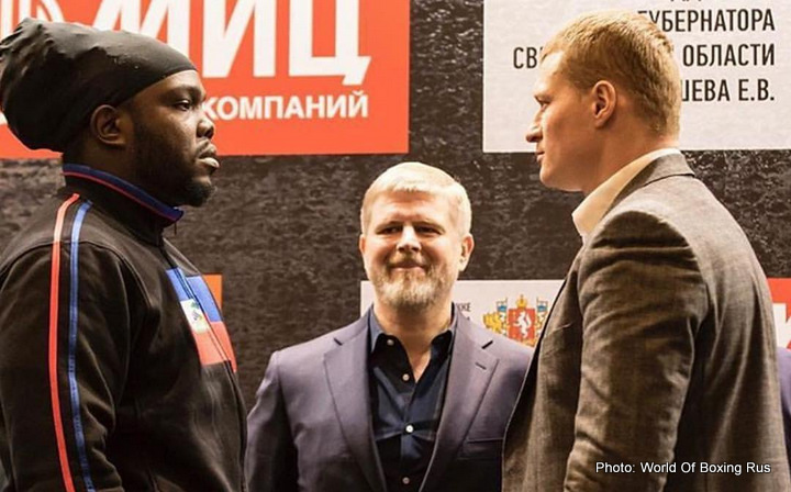 Alexander Povetkin, Bermane Stiverne - News broke late last night US time stating how Russia's Alexander Povetkin failed a drugs test, the announcement coming from the WBC President Jose Suliaman just hours before Povetkin's scheduled fight with Bermane Stiverne. The fight, which was set for today, and would contest the interim WBC heavyweight title (the winner to face full champ Deontay Wilder some time next year) is now in serious jeopardy.