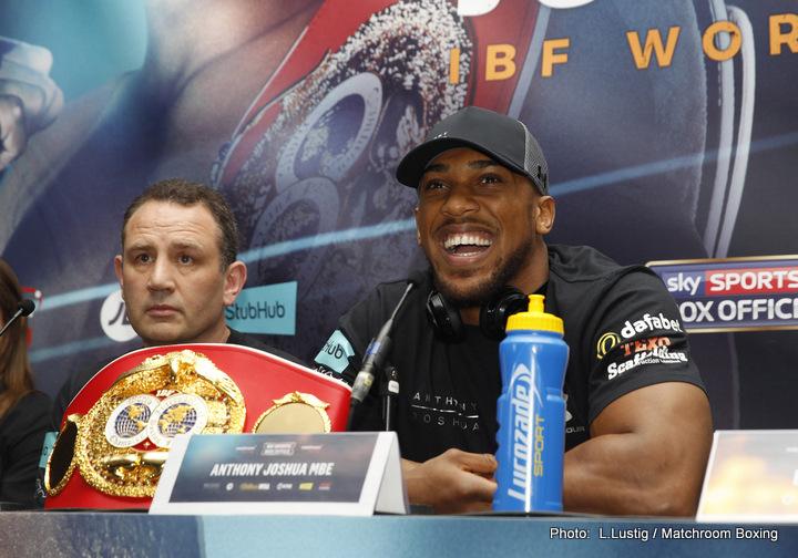 Anthony Joshua Eric Molina Boxing News
