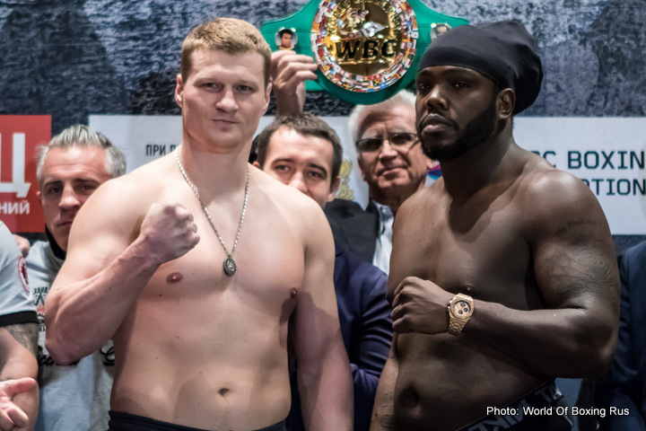 Alexander Povetkin Bermane Stiverne Boxing News Top Stories Boxing