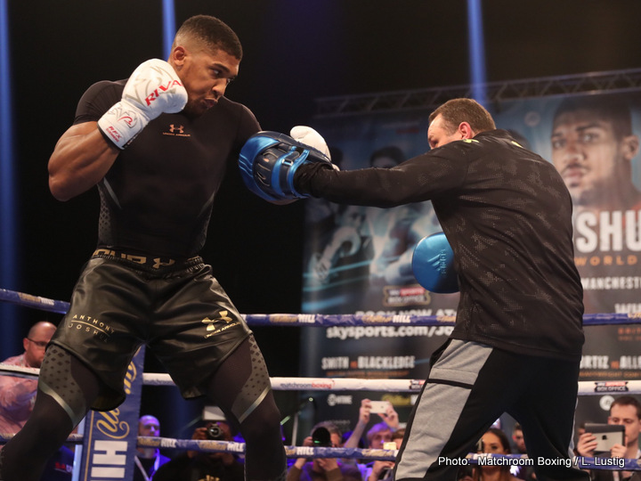 Anthony Joshua-Eric Molina Workout Quotes/Photos