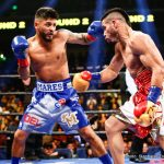 Jesus Cuellar - Abner Mares, the new WBA Featherweight World Championship boxer (30-2-1, 15 KOs), and Robert Garcia, Boxing trainer who has coached 10 World Champion boxers, celebrate an electric and impressive upset with Mares' 12-round split decision over defending champion Jesus Cuellar (28-2, 21 KOs) in Los Angeles this past Saturday. The fight was the main event of a SHOWTIME CHAMPIONSHIP BOXING doubleheader.