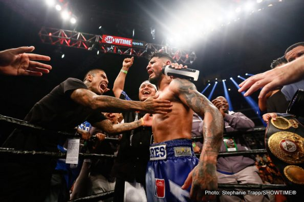 Abner Mares Erickson Lubin Jesus Andres Cuellar Sergey Lipinets Boxing News Boxing Results Top Stories Boxing