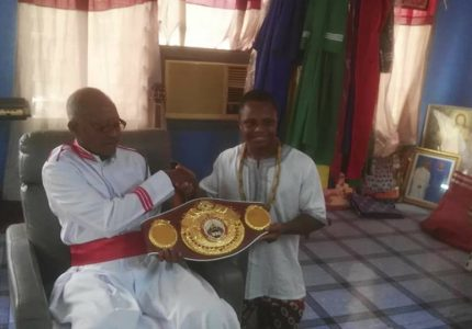 Dogboe takes WBO title straight to church on arrival in Ghana