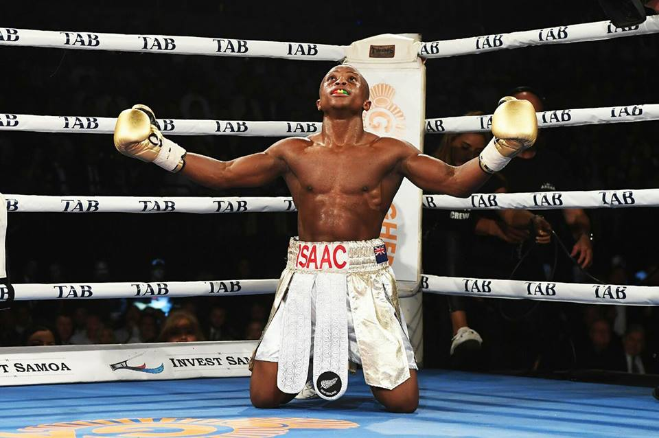 Rafael Mensah - WBO junior featherweight champion, Isaac 'Royal Storm' Dogboe and his dad/trainer, Paul Dogboe are urging countryman, Rafael Mensah to believe in God, go all out and fight for what belongs to him to make himself, his family and Ghana proud on Saturday night when the man nicknamed 'Sweet Pea' steps into the ring against Alberto Machado of Puerto Rico for the WBA super featherweight title of the world.