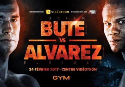 Lucian Bute battles Eleider Alvarez on Feb.24
