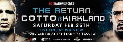 Miguel Cotto vs. James Kirkland fight cancelled