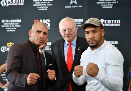 Cotto and Kirkland Press Conference in Dallas, TX