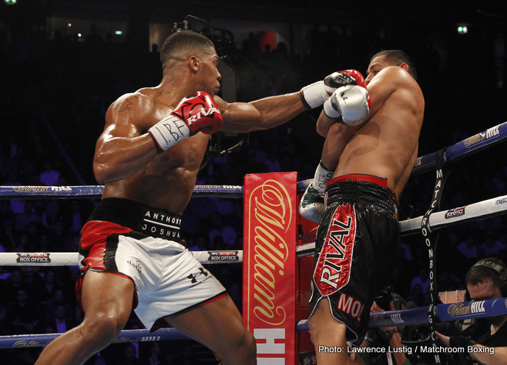 Anthony Joshua, Eric Molina - Anthony Joshua extended his perfect record to 18-0 with 18 knockouts in a dominating defense of his IBF Heavyweight World Championship over American challenger Eric Molina Saturday on SHOWTIME from Manchester Arena in Manchester, England.