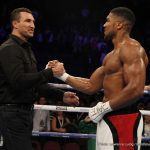 """Anthony Joshua - Most fight fans agree the upcoming April clash between young champ Anthony Joshua and """"old"""" ex-champ Wladimir Klitschko is pretty much a 50-50 fight; certainly a tough one to pick a winner from. Fans also hope the Wembley mega-event that has smashed all previous ticket sales in the UK is a great fight."""