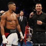 "Anthony Joshua - Heavyweight living legend ""Big"" George Foreman is as excited as the rest of us ahead of the big (very big; 90,000 tickets sold for a monstrous Wembley sell-out) Anthony Joshua-Wladimir Klitschko heavyweight title fight showdown."