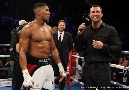 Anthony Joshua-Wladimir Klitschko: The Richest Fight in Boxing History – or certainly the most expensive