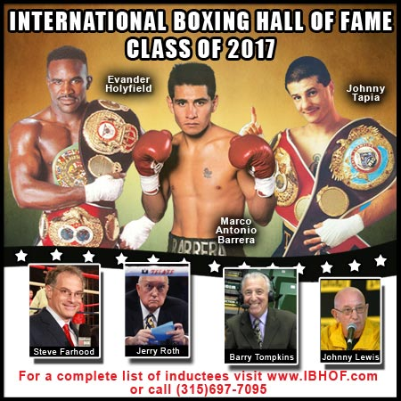 Holyfield,  Barrera, Tapia, Jimmy Lennon Jr. head Boxing Hall of Fame class