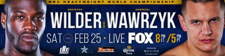 Deontay Wilder battles Andrzej Wawrzyk on Feb.25 in Birmingham, AL
