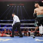 Dejan Zlaticanin - Mikey Garcia scored an early candidate for 2017's KO of The Year last night on the under-card of the Santa Cruz-Frampton return in Las Vegas. Absolutely vaporising tough and previously unbeaten (if outclassed) Dejan Zlaticanin in the 3rd-round, the former WBO featherweight and super-featherweight champ ripped the WBC lightweight title from the 32-year-old southpaw.