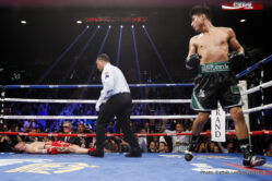 Dejan Zlaticanin, Mikey Garcia - Mikey Garcia became a three-division world champion with a vicious third-round knockout of previously undefeated defending WBC Lightweight World Champion Dejan Zlaticanin in the co-main event of SHOWTIME CHAMPIONSHIP BOXING.
