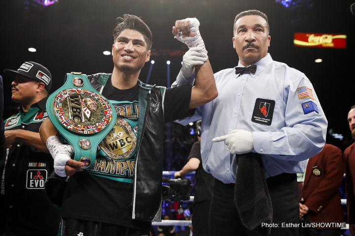 Mikey Garcia - Thanks to his stunning return KO win over Dejan Zlaticanin, three-weight ruler Mikey Garcia is one of the hottest fighters on the scene today, and everyone wants to see what the unbeaten 29-year-old does next. Currently 36-0(30) and the WBC lightweight champ, Garcia has a ton of options.
