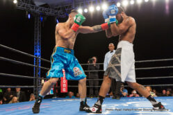 Anthony Dirrell, Erislandy Lara, Norbert Nemesapati, Yuri Foreman - WBA junior middleweight champion Erislandy Lara (24-2-2, 14 KOs) beat challenger Yuri Foreman (34-3, 10 KOs) by a 4th round TKO tonight at the Hialeah Park Racing and Casino in Miami, Florida. The fight ended with Lara flattening Foreman with a left to the head in the 4th. The fight was stopped at 1:47 of round 4.