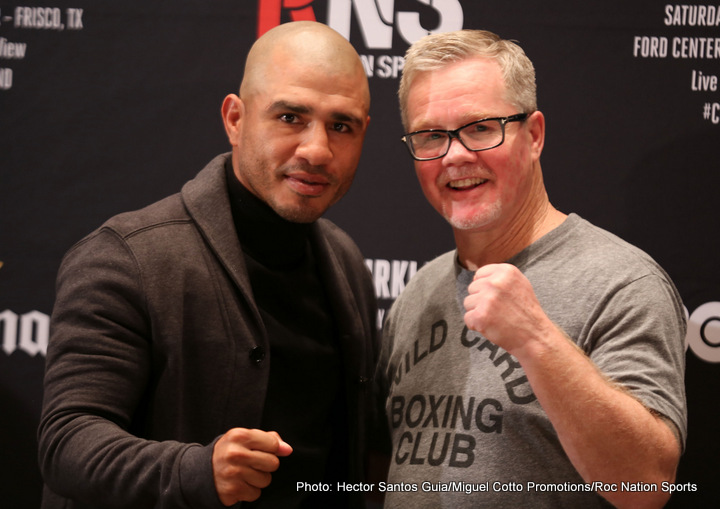 """Miguel Cotto, Yoshihiro Kamegai - Miguel Cotto (40-5, 33 KOs), the only four-division world champion in the rich boxing history of Puerto Rico, will return to the ring on Saturday, August 26 to take on the always-exciting Yoshihiro """"El Maestrito"""" Kamegai (27-3-2, 24 KOs) in a 12-round match for the vacant WBO Junior Middleweight World Championship from the StubHub Center in Carson, Calif. Cotto will attempt to secure a sixth world championship in four weight classes as he makes his 23rd appearance on HBO."""
