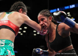Amanda Serrano - Amanda Serrano (31-1-1, 23 KOs) capitalized on the opportunity to fight in the first women's world title fight on English-language national television in nearly a decade, with a dominating performance in victory. Serrano defended her WBO Junior Featherweight World Championship over former two-division world champion Yazmin Rivas (35-10-1, 10 KOs) via unanimous decision. The judges scored the bout 97-97, 98-92, 99-91.