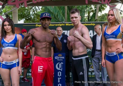 Erislandy Lara 154 vs Yuri Foreman 153.2 – Weights