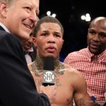 """Gervonta Davis - On Saturday night, January 14, 2017, undefeated professional boxer, Gervonta """"Tank"""" Davis (Baltimore, Maryland) won his first world title by defeating IBF World Super Featherweight Champion, Jose Pedraza (Cidra, Puerto Rico). Davis-Pedraza was scheduled for 12 Rounds at the Barclays Center in Brooklyn, New York, live on SHOWTIME. At the beginning of Round 7, Davis went on an aggressive offensive attack that ended with a huge right hook that floored the champion. Pedraza made it to his feet, but Ricky Gonzalez stopped the fight at 2:36 of round 7. Davis improved to 17-0, 16 by KO, while Pedraza's record dropped to 22-1, with 12 KOs. Davis joined Joe Gans, Vincent Pettway, and Hasim Rahman as Baltimore's only boxing world champions. Davis, 22, became the youngest boxer from Baltimore to win a world title."""