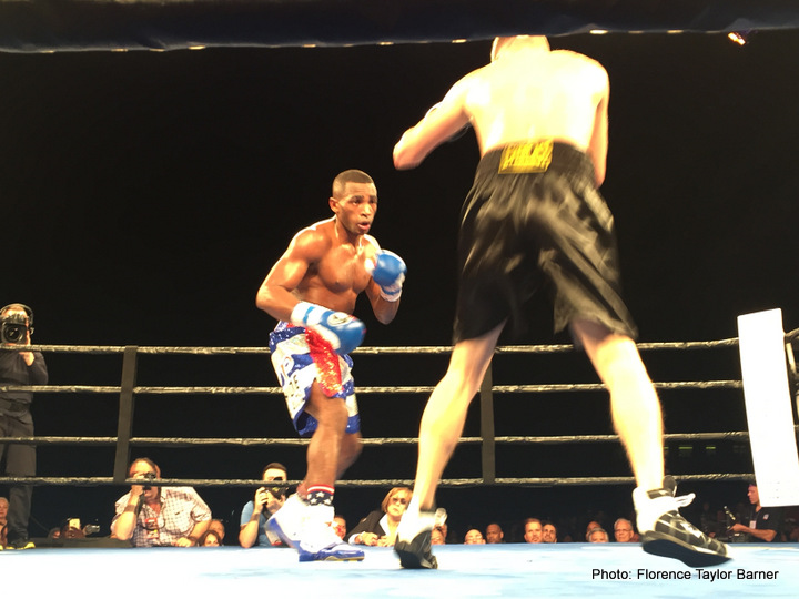 Erislandy Lara, Yuri Foreman - Friday, January 13, 2017, WBA Super Welterweight Champion Erislandy Lara (24-2-2, 14 KOs) retained his title by knocking out Yuri Foreman (34-3-0, 10 KOs) in the fourth round of a scheduled twelve-round bout at the Hialeah Park Casino in Hialeah, FL.