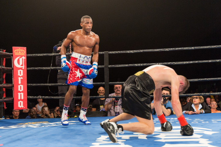 "Erislandy Lara, Gennady Golovkin, Saul ""Canelo"" Alvarez, Yuri Foreman - Super welterweight world champion Erislandy Lara (24-2-2, 14 KOs) continued his reign as one of the top 154-pounders in the world and delivered a sensational knockout of former world champion Yuri Foreman (34-3, 10 KOs) in the main event of Premier Boxing Champions on Spike Friday night from Hialeah Park Racing and Casino in Miami"