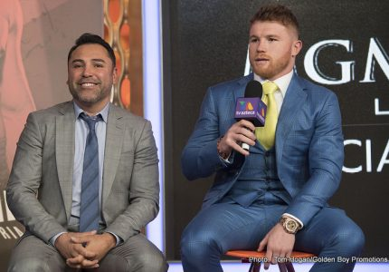 De La Hoya compares upcoming Canelo-Chavez Jr. fight to Barrera-Morales classic