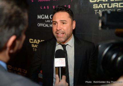 Oscar De La Hoya says Canelo's next fight will be against GGG in September; unless…