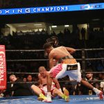 Raushee Warren - Nearly 10,000 fans turned out for hometown hero Robert Easter (19-0, 14 KOs) as he impressively defended his lightweight world title against Puerto Rico's Luis Cruz (22-5-1, 16 KOs) at the Huntington Center in Toledo, OH in the main event of Premier Boxing Champions: The Next Round on Bounce TV. The 2012 Olympic alternate used his reach and power throughout the fight, knocking Cruz down three times en route to a unanimous decision victory.