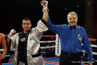 Joshua Franco - Golden Boy Promotions presents a fantasic night of boxing live from the Belasco Theater at the LA Fight Club! Fans were not disappointed with the four action and skill packed bouts featuring three of the LA areas youngest rising prospects.