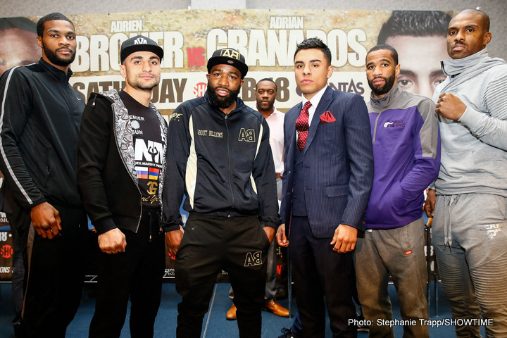 "Adrian Granados - Adrien Broner says he has turned over a new leaf and is no longer a ""sh*t talker anymore"".  The normally brash and outlandish Broner cut a new figure ahead of his ring return against Mexican-American Adrian Granados this Saturday night, exclusively live on BoxNation."