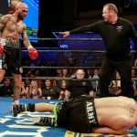 """Sammy Vasquez - Former world champion Luis Collazo (37-7, 20 KOs) delivered an early """"Knockout of the Year"""" candidate with a sixth-round knockout of welterweight contender Sammy Vasquez Jr. (21-2, 15 KOs) Thursday night in the main event of Premier Boxing Champions on FS1 and FOX Deportes from Horseshoe Tunica Hotel & Casino in Tunica, Mississippi."""