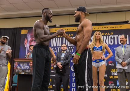 Wilder 222 lbs vs Washington 239 lbs -Photos