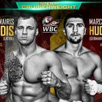 Marco Huck - Mairis Briedis (22-0, 18 KOs) took the game but limited Marco Huck (40-4-1, 27 KOs) to school tonight in pounding out a dominating 12 round unanimous decision to win the vacant World Boxing Council cruiserweight title in front of a large crowd of Huck supporters at the Westfalenhalle in Dortmund, Germany.