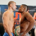 Lucian Bute - Lucian Bute vs. Eleider Alvarez OFFICIAL WEIGHTS for this Friday's fight at the Centre Videotron, Quebec City, Quebec. Live on PPV in North America tomorrow (Friday) night from Videotron Centre of Quebec City