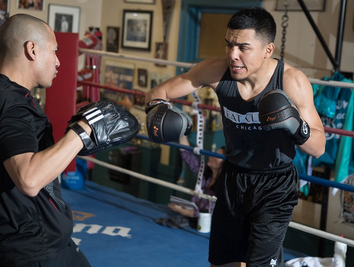 "Adrian Granados - Hard-hitting contender Adrian Granados hosted Chicago media at the Garfield Park District Fieldhouse Tuesday as he prepares for his main event showdown with former four-division world champion Adrien ""The Problem"" Broner Saturday, February 18 from the Cintas Center at Xavier University in Cincinnati and live on SHOWTIME."