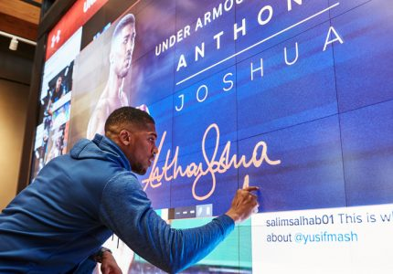 Anthony Joshua signs long term extension with Under Armour