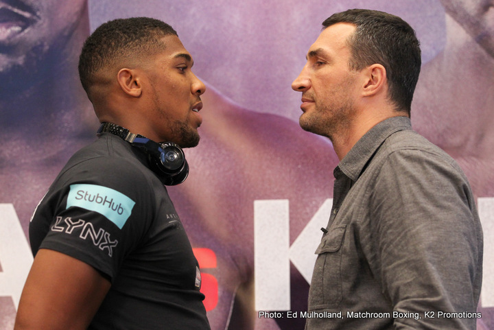 Anthony Joshua Lamon Brewster Wladimir Klitschko Boxing News British Boxing