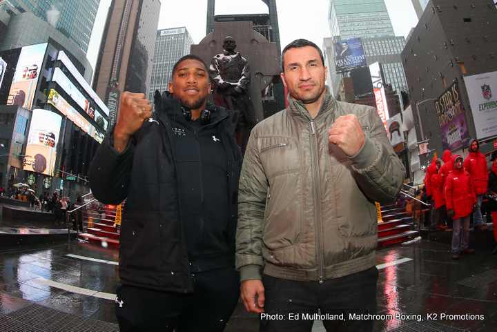Anthony Joshua, Wladimir Klitschko - Klitschko Vs Joshua - A Few Thoughts.
