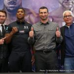 Anthony Joshua - On Tuesday, January 31, IBF Heavyweight World Champion ANTHONY JOSHUA, (18-0, 18 KO's) and long reigning Former Unified Heavyweight World Champion WLADIMIR KLITSCHKO, (64-4-0, 53 KO's) hit New York City for media appearances and to hold a press conference to discuss their April 29 massive international boxing clash set for London's Wembley Stadium where a sold-out crowd of 90,000 will bear witness.