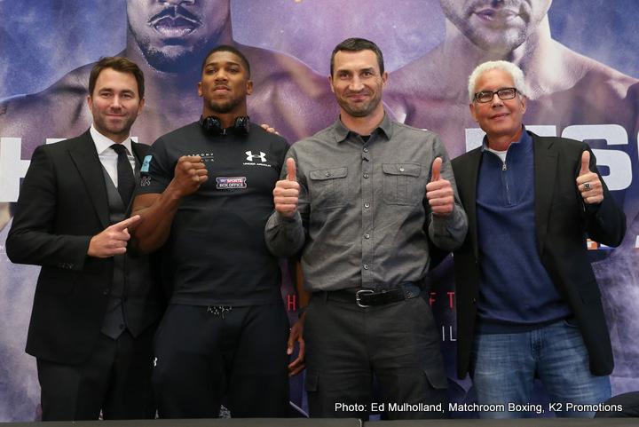 Joshua vs Klitschko NYC Quotes, Photos