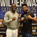 Deontay Wilder - Heavyweight world champion Deontay Wilder and unbeaten Gerald Washington went face-to-face Thursday at the final press conference before their primetime showdown that headlines Premier Boxing Champions on FOX and FOX Deportes this Saturday, February 25 from Legacy Arena at the BJCC in Birmingham, Alabama.