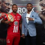 "Errol Spence Jr., Kell Brook - Unbeaten Errol Spence Jr. (21-0, 18 KOs) sees IBF welterweight champion Kell ""Special K"" Brook (36-1, 25 KOs) as a road bump on his path to becoming a boxing great. The two fighters will be facing each other this Saturday night on May 27 at Bramall Lane in Sheffield, England. Spence is the younger fighter at 27, and he's coming into the fight with a lot of hype behind him, as he's seen by a lot of people as the replacement for Floyd Mayweather Jr. and the next superstar for the 147 pound division."