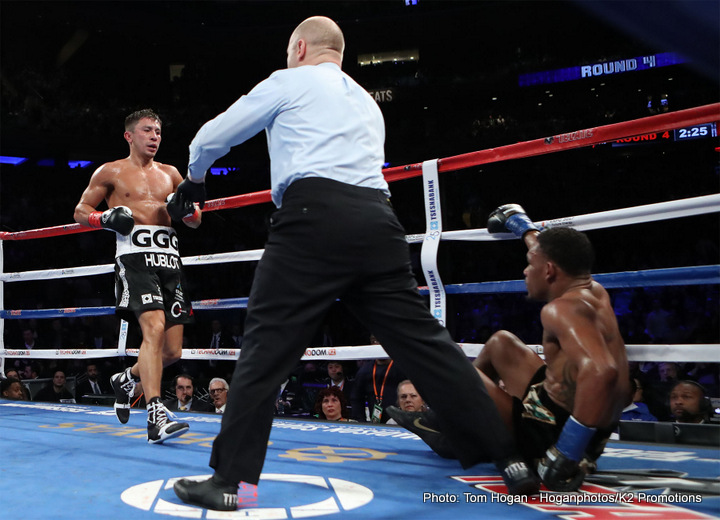 """Daniel Jacobs, Gennady Golovkin, Saul """"Canelo"""" Alvarez - Up until his controversial September draw with Canelo Alvarez, world middleweight king Gennady Golovkin had never been pushed farther, or closer than when he met Daniel Jacobs in March of this year. As fans know, """"Miracle Man"""" Jacobs was ultra-competitive against Triple-G (suffering a flash knockdown but at no time really appearing hurt or buzzed), eventually losing via close, some said controversial, decision."""