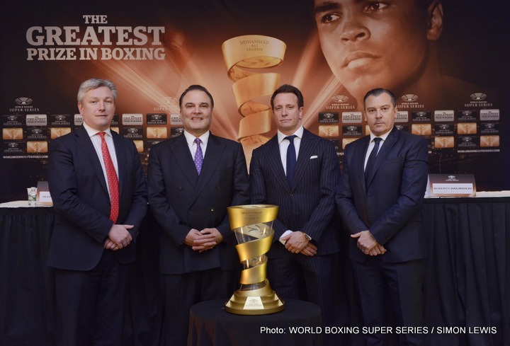 World Boxing Super Series - Comosa AG are pleased to announce the launch of the World Boxing Super Series, a revolutionary bracket-style elimination tournament featuring the world`s best boxers and a total of $50 million in prize money. The winner will receive the GREATEST prize in boxing - the Muhammad Ali Trophy.